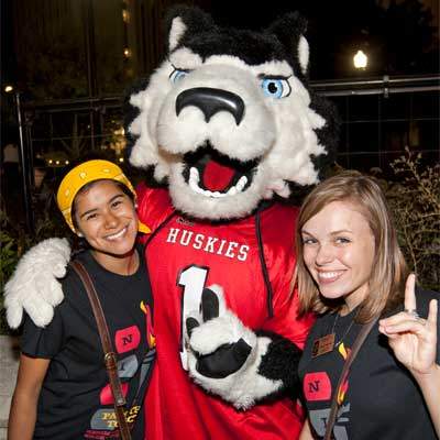 Victor E. Huskie and friends