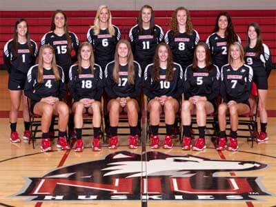 NIU volleyball team