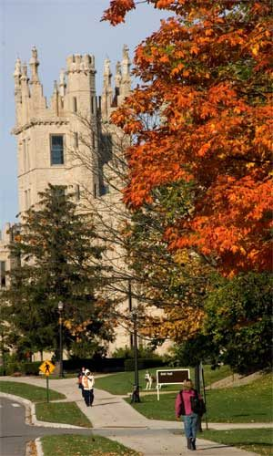 Altgeld Hall in fall