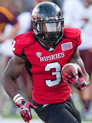 Akeem Daniels ran 128 yards on 17 carries, with one score, in NIU's 2012 Mid-American Conference Championship victory over Kent State.