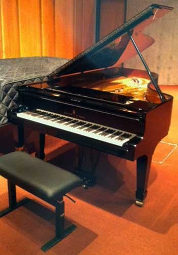 The NIU School of Music's new Hamburg Steinway.