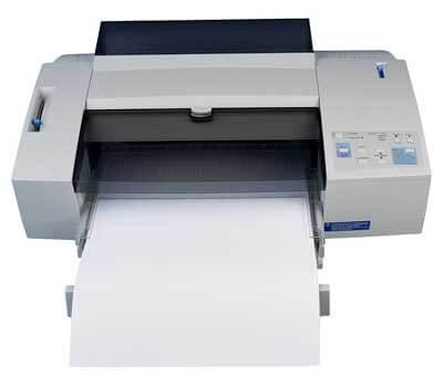 Photo of a computer printer