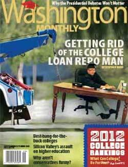 Cover of Washington Monthly magazine
