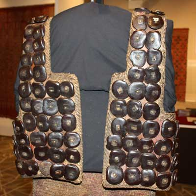 "An armored vest from the Tana Toraja people of Sulawesi, Indonesia, is one of the featured items in the ""Rarely Seen Southeast Asia"" exhibit on display through May 15 at the NIU Anthropology Museum."