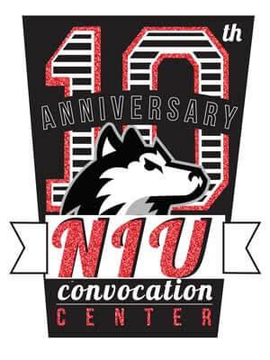 10th Anniversary NIU Convocation Center logo