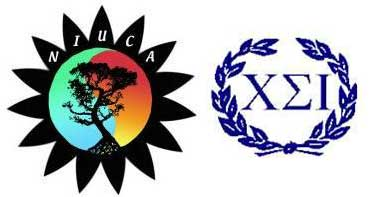 Logos of the NIU Counseling Association and Chi Sigma Iota