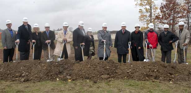 NIU held a groundbreaking ceremony Oct. 18 for the Outdoor Recreation Sports Complex.