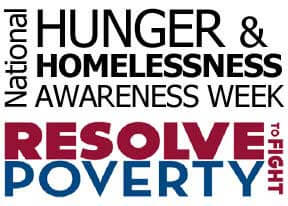 National Hunger & Homelessness Awareness Week logo