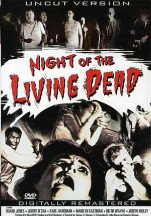 "DVD cover of George Romero's ""Night of the Living Dead"""