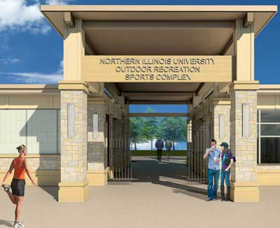 Artist's rendering of Outdoor Recreation Sports Complex