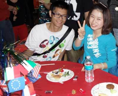 A scene from the ELS International Education Week dinner at Barsema Hall