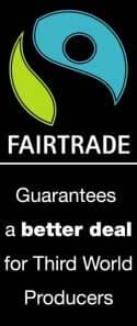 Banner: FAIRTRADE guarantees a better deal for Third World Producers