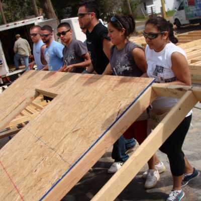 Sociology offers year-round opportunities for students to get involved in human-service-related programs. For nearly 25 years, the department has sponsored an alternative spring-break trip to Pensacola, Fla., where students have constructed more than 50 houses with Habitat for Humanity.
