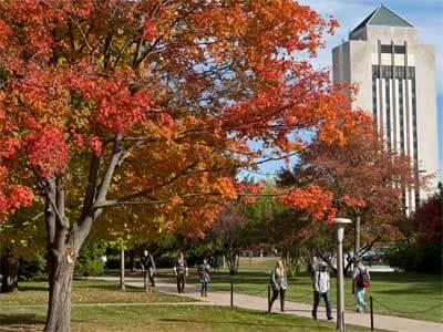 NIU campus in fall