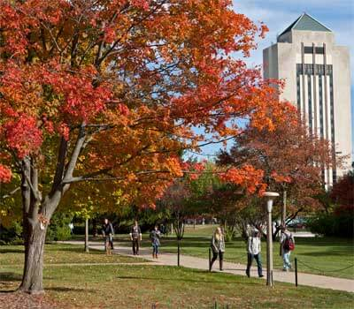 NIU campus in autumn