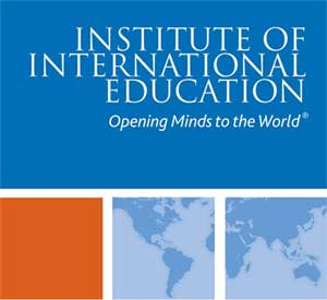 Logo of the Institute of International Education: Opening Minds to the World