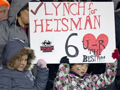 Young Huskie football fans show their support for QB Jordan Lynch.