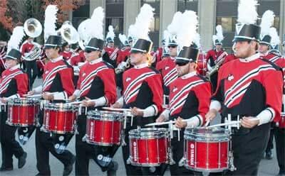 Huskie Marching Band drumline