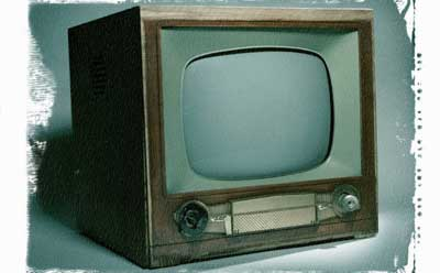 Photo of an old television