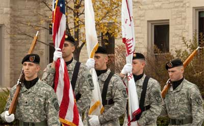 NIU Veterans Day ceremony 2011