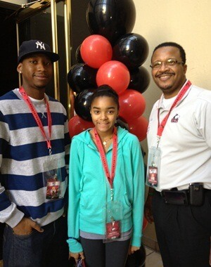 NIU Trustee Wheeler Coleman, with his son, James, and daughter, Kara.