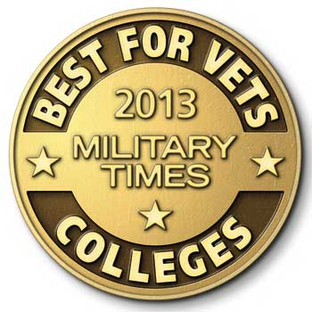 Official seal: 2013 Military Times Best for Vets - Colleges