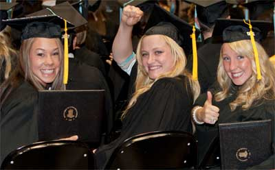 NIU College of Health and Human Sciences graduates at their May 2012 commencement ceremony.