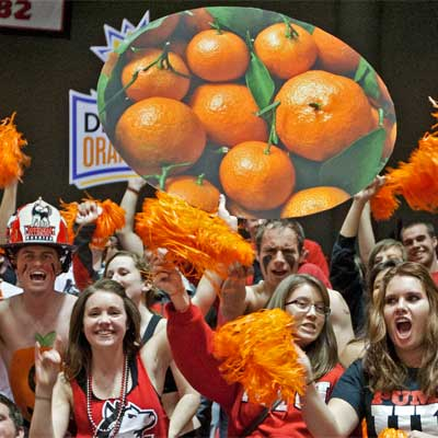 NIU football fans show their Orange Bowl excitement during the Dec. 5 pep rally.