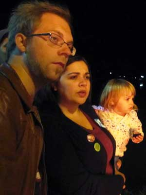 Katie Seelinger and her family at Take Back the Night 2010.