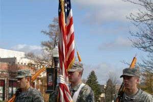 NIU Veterans Day cermony 2012