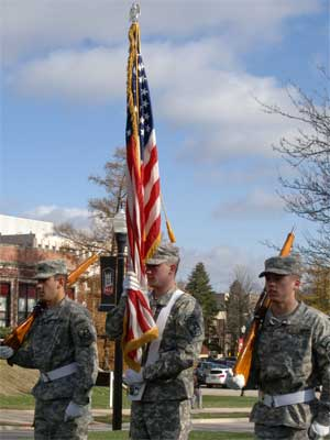 NIU Veterans Day cermony 2012