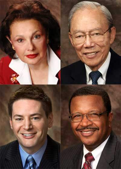 Clockwise, from top left: Cherilyn G. Murer, Robert T. Boey, Wheeler G. Coleman and John R. Butler