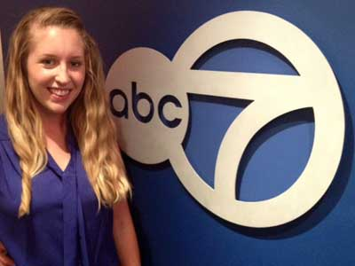 Topping the news: Journalism major impresses bosses at ABC7