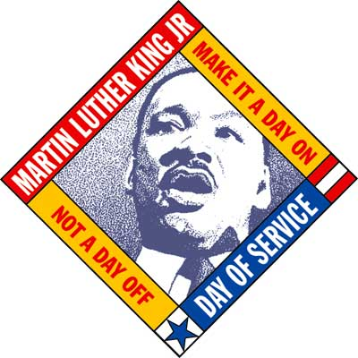 Martin Luther King Jr. Day of Service logo