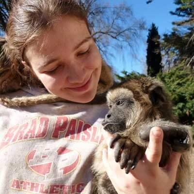 Sarah Steubing and friend