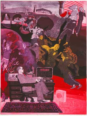"""The Last Judgment"" (1979) by Warrington Colescott"