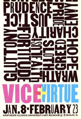 """Vice + Virtue"" poster"