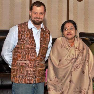 Bart Woodstrup and Her Excellency Suvra Mukherjee.