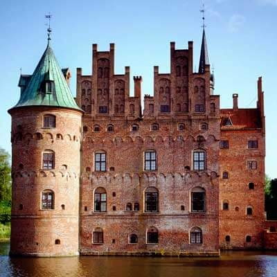 Photo of a castle in Denmark