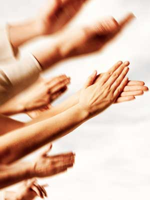 Photo of hands clapping