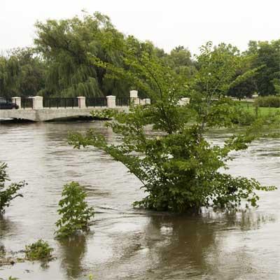 NIU campus flood of August 2007