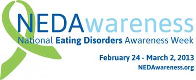 National Eating Disorders Awareness Week logo