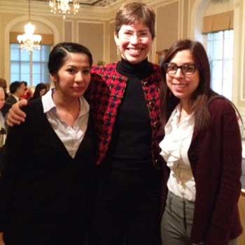 Noemi Rodriguez, Lt. Gov. Sheila Simon and Emily Prieto
