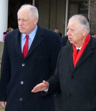 Gov. Pat Quinn and NIU President John Peters
