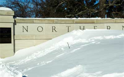 NIU campus blizzard of February 2011