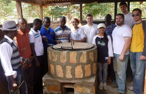 Engineers Without Borders: water filtration in Africa (January 2012). Ott is second from the right in the front row.