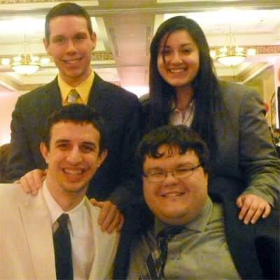 Clockwise, from top left: Bobby Browning, Yanelly Villegas, Jimmy Zucker and Chris Michels.