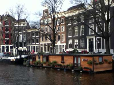 Photo of a canal in Amsterdam. Photo courtesy Christopher Jones.