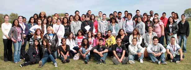 Latino Resource Center staff worked with prospective high school students.