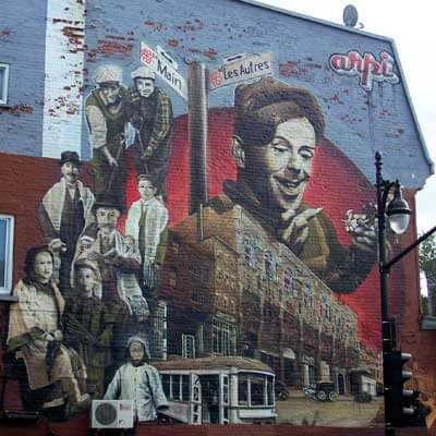 Mural at Main and Les Autres Streets, Montreal. Photo courtesy Anne Seitzinger.